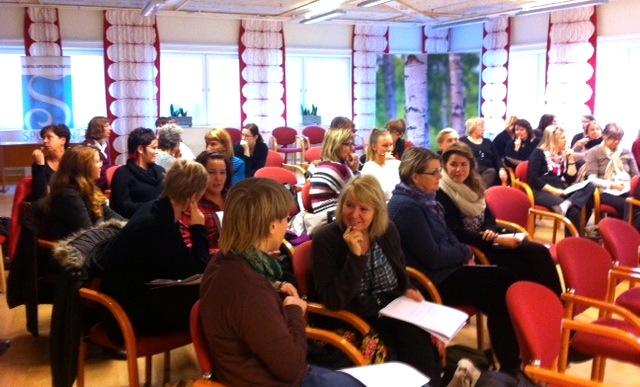 Deltagare i Energiworkshopen på Umeå kommuns hälsodagar 2013.