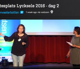Plats på scenen på Mötesplats Lycksele 2016