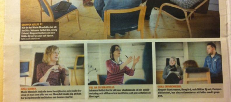 Artikel i tidningen Norra Västerbotten om vår storytellingutbildning
